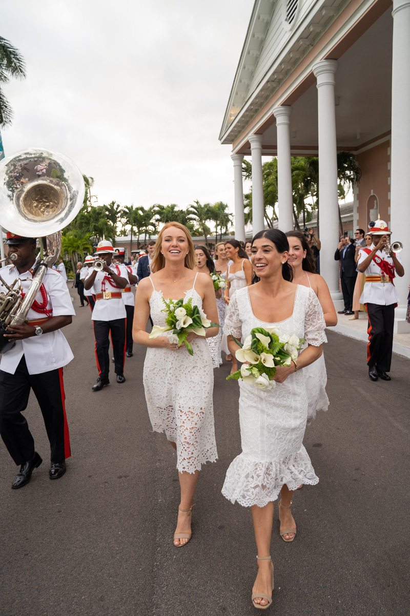 bridesmaids and police band lyford cay club