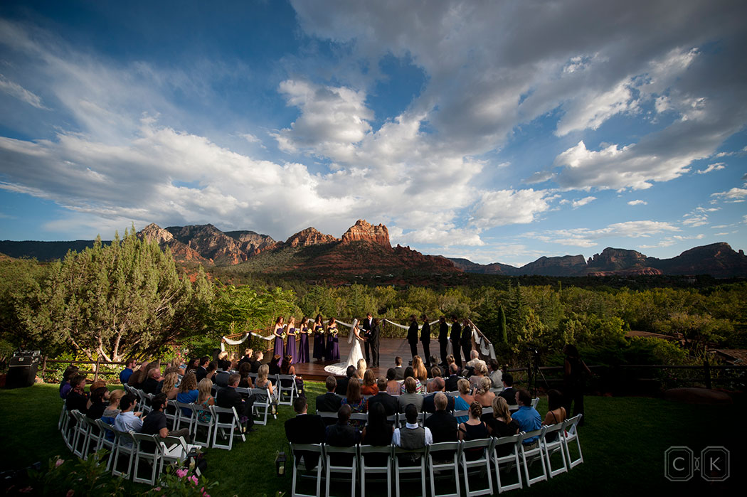 LAuberge de Sedona Wedding red rock ceremony
