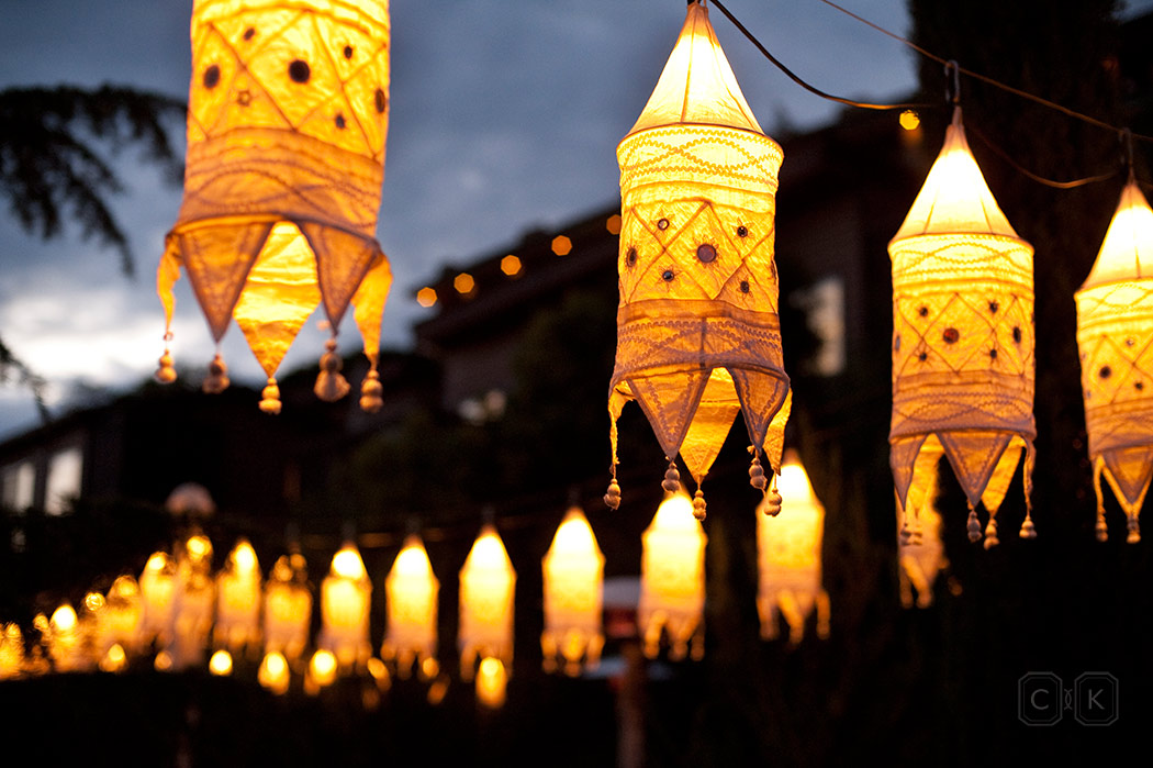 LAuberge de Sedona Wedding with Show Stoppers Lanterns