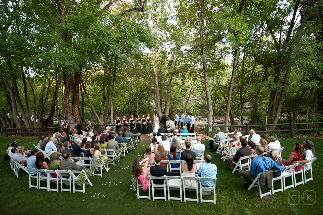 cottage side lawn, wedding, L'Auberge, Creek wedding