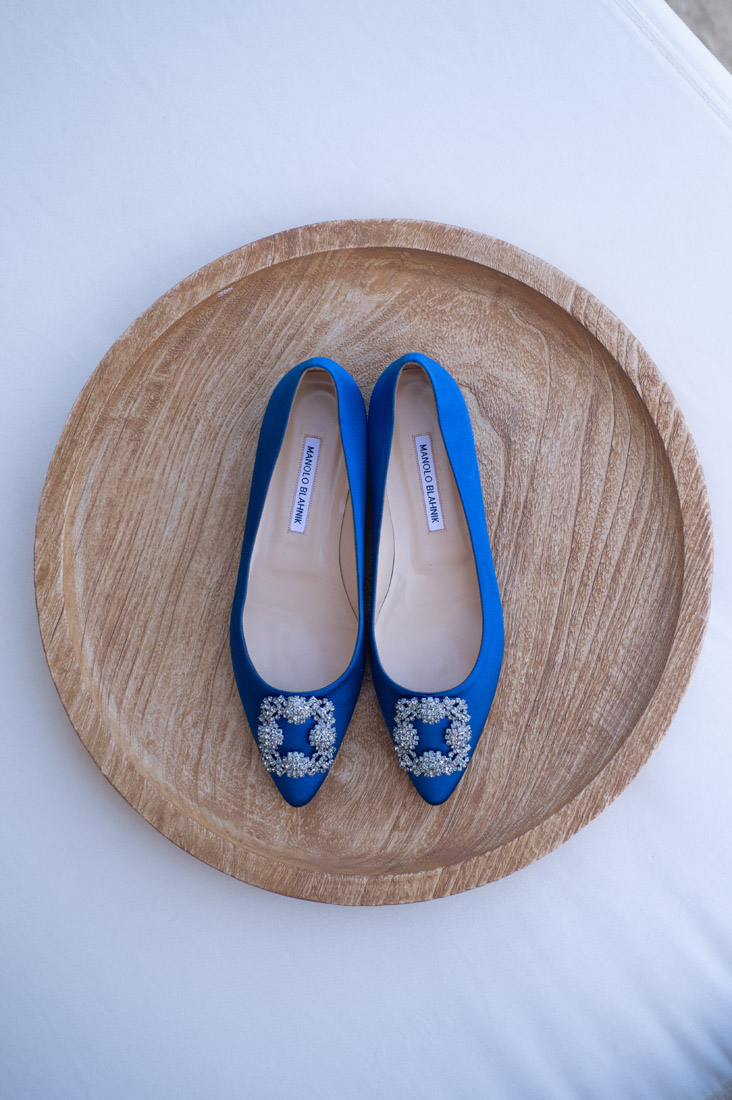 Manolo Blahnik something blue flats