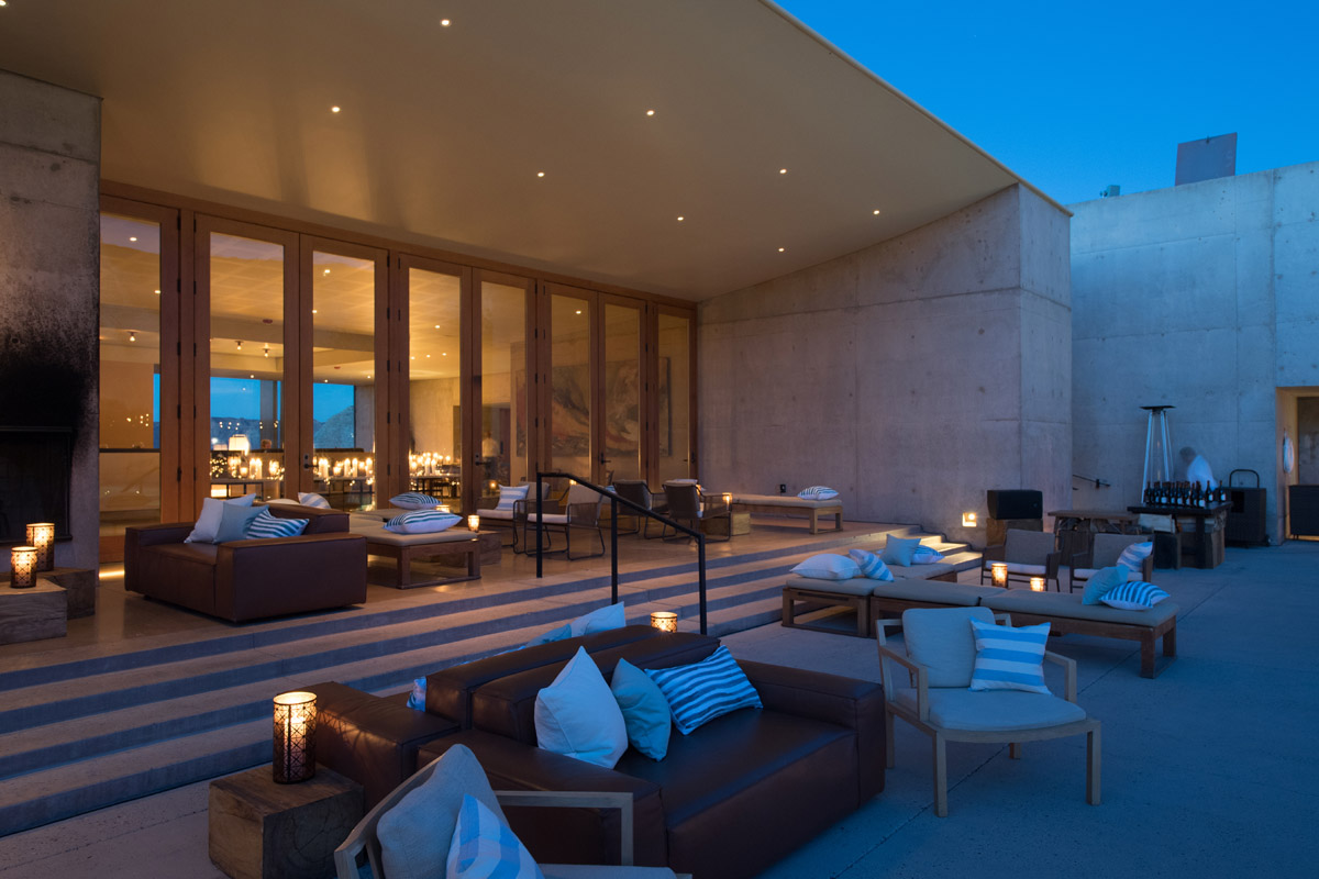 Amangiri outdoor lounge