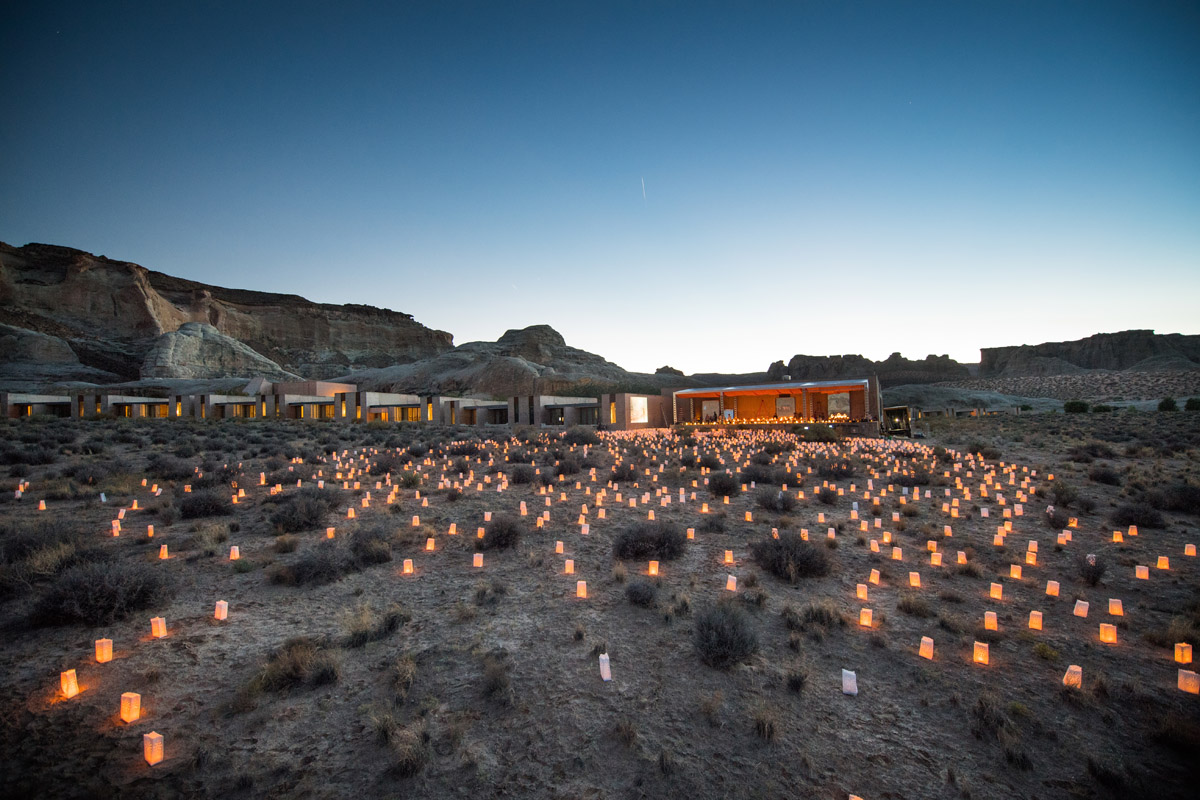 Amangiri 3,000 candles in the desert