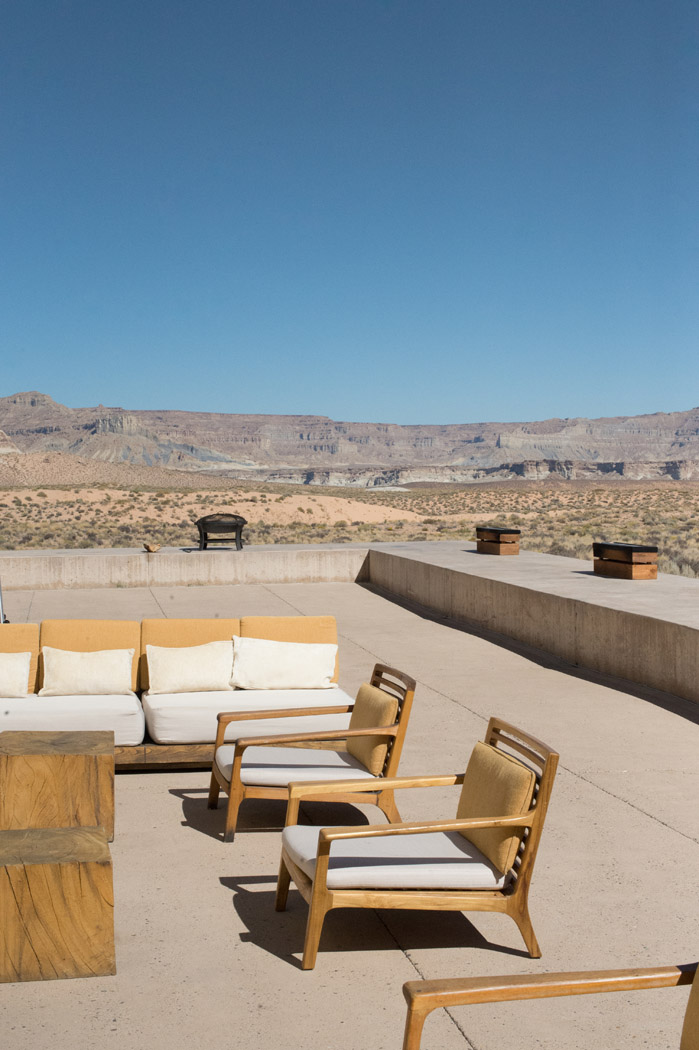 desert lounge at Amangiri