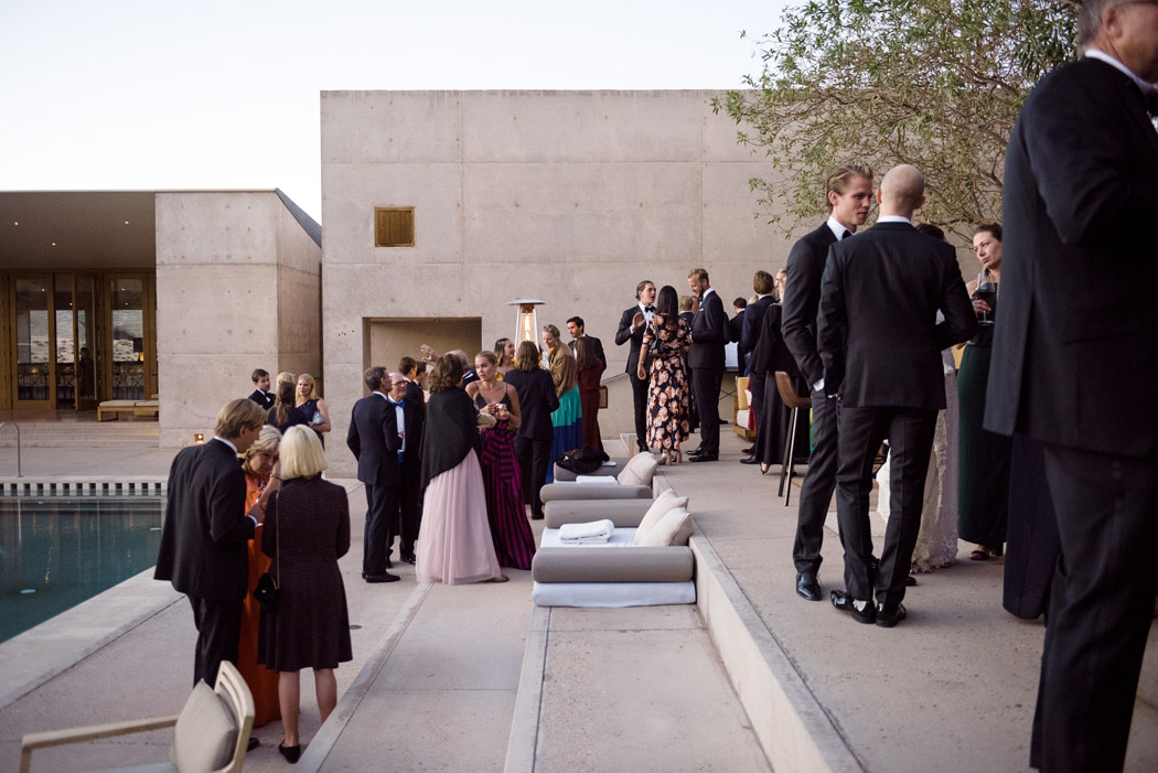 Amangiri Wedding cocktail hour