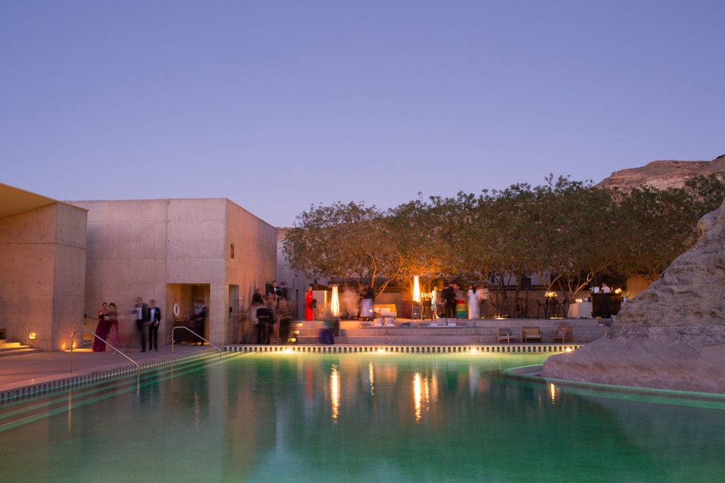 Amangiri pool during a wedding