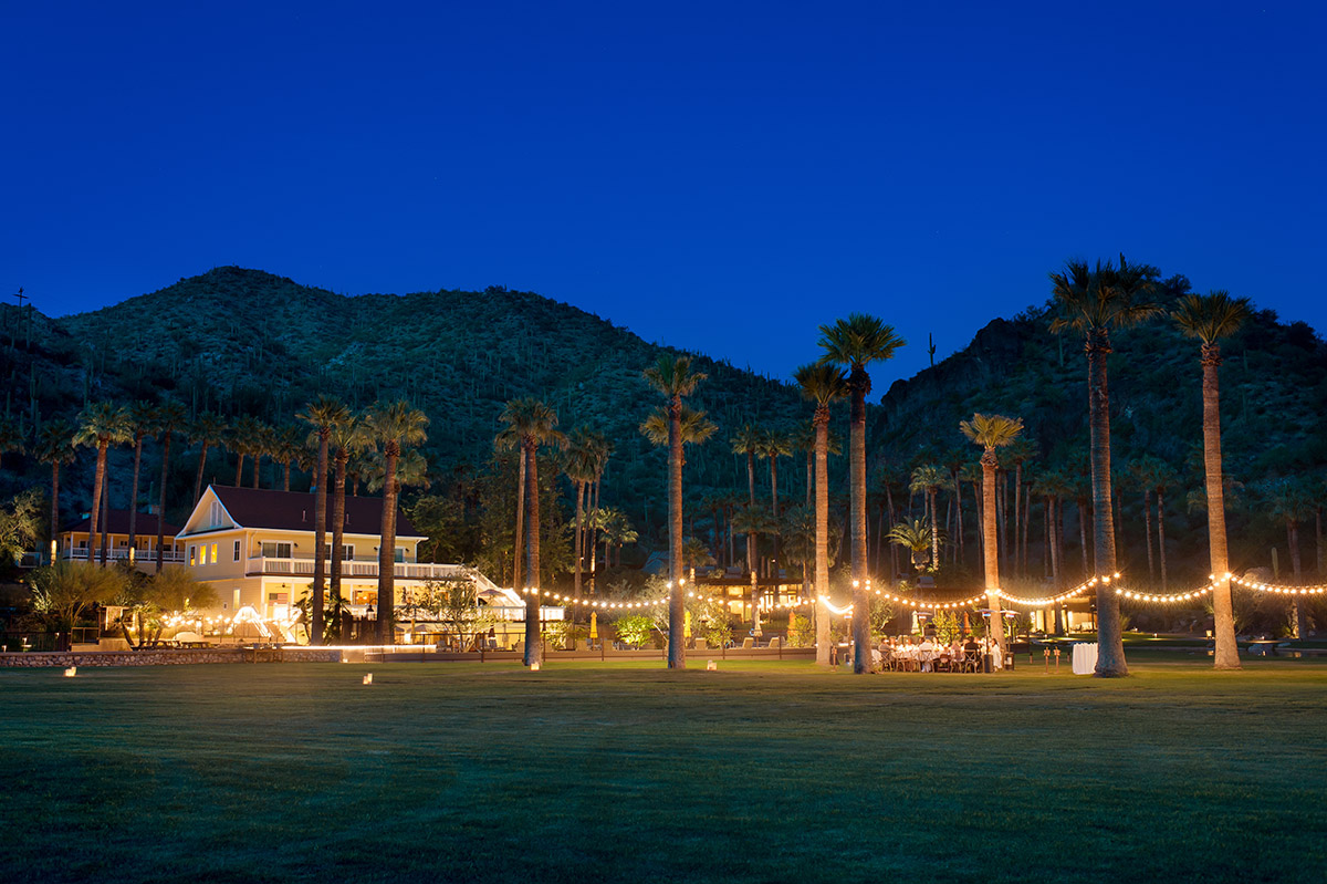 Castle Hot Springs Wedding Reception View