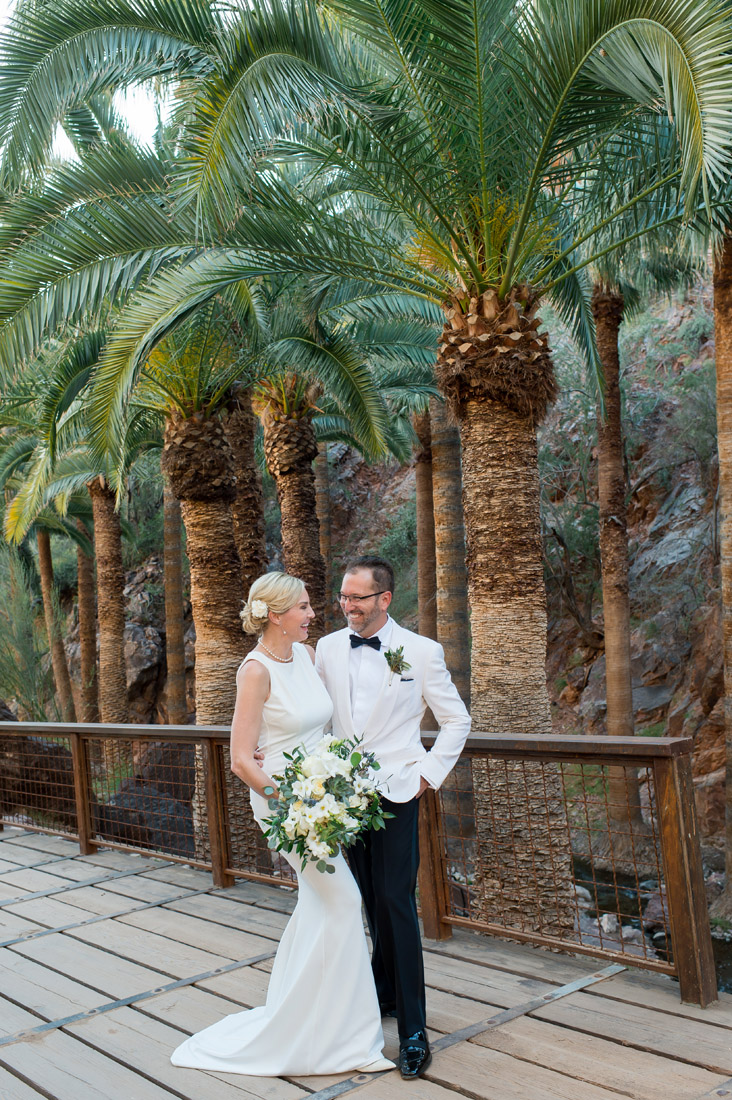 bride and groom at castle hot springs