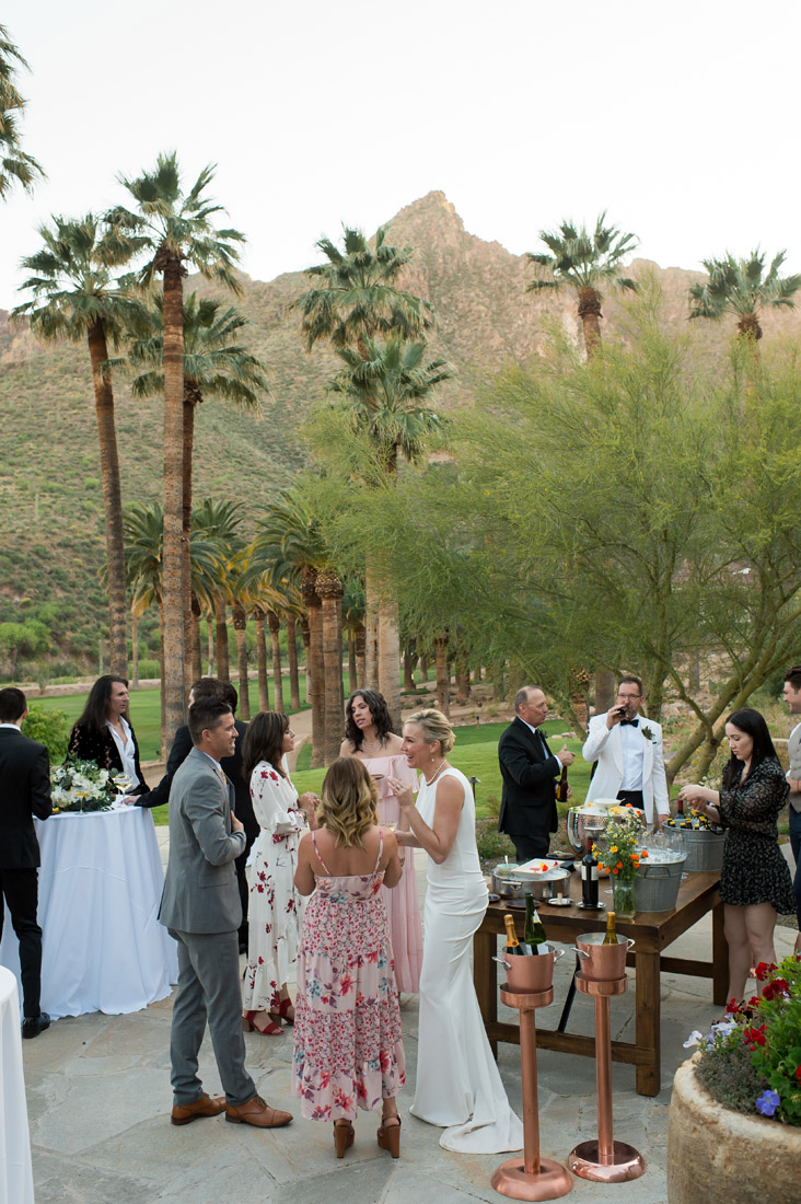 cocktail hour at Castle Hot Springs