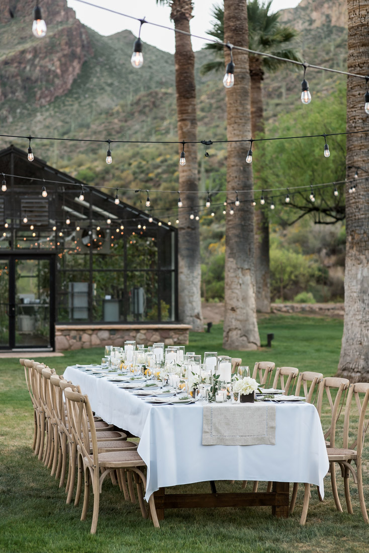 Castle hot Spring wedding reception table
