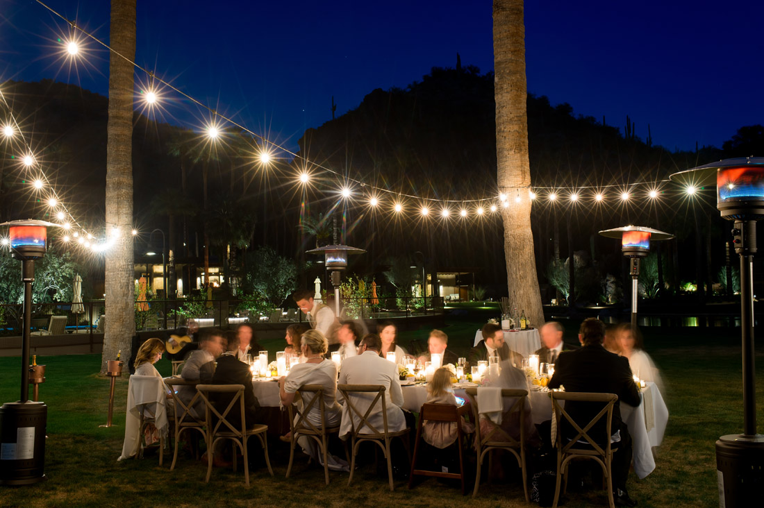 Castle Hot Springs Wedding reception