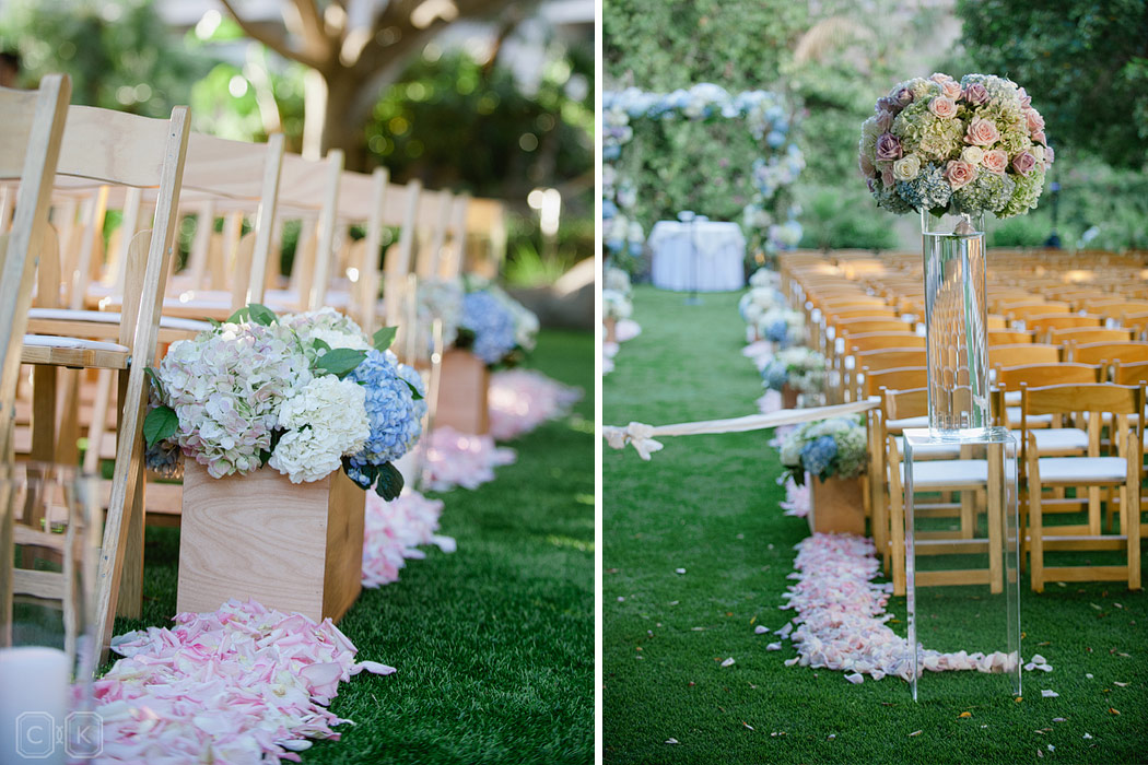 wedding aisle decor by Ashley Gain Events