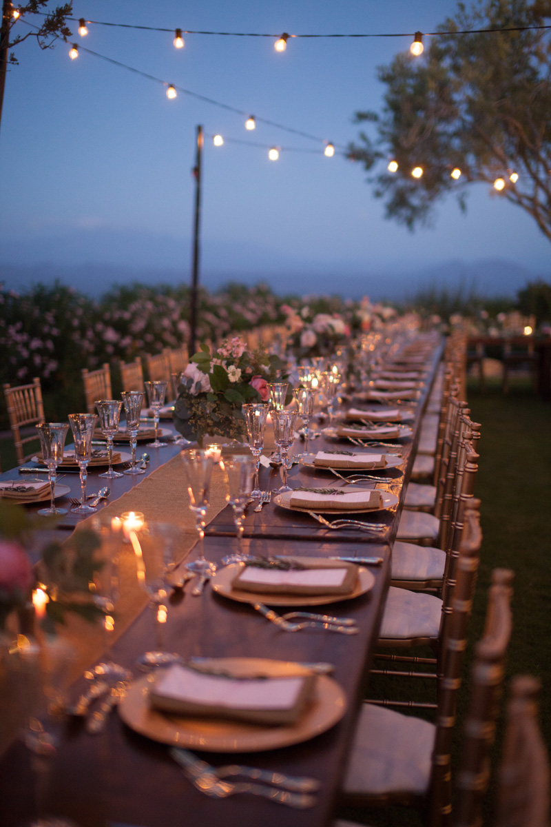 al fresco wedding reception in Arizona