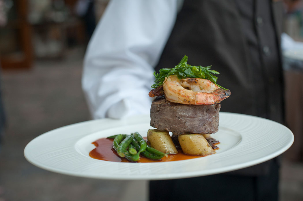 St. Regis Deer Valley Surf and Turf plate and server