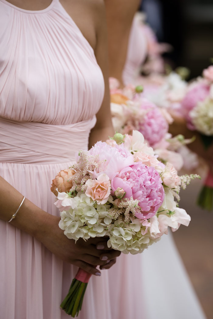 pink peonie bouquets
