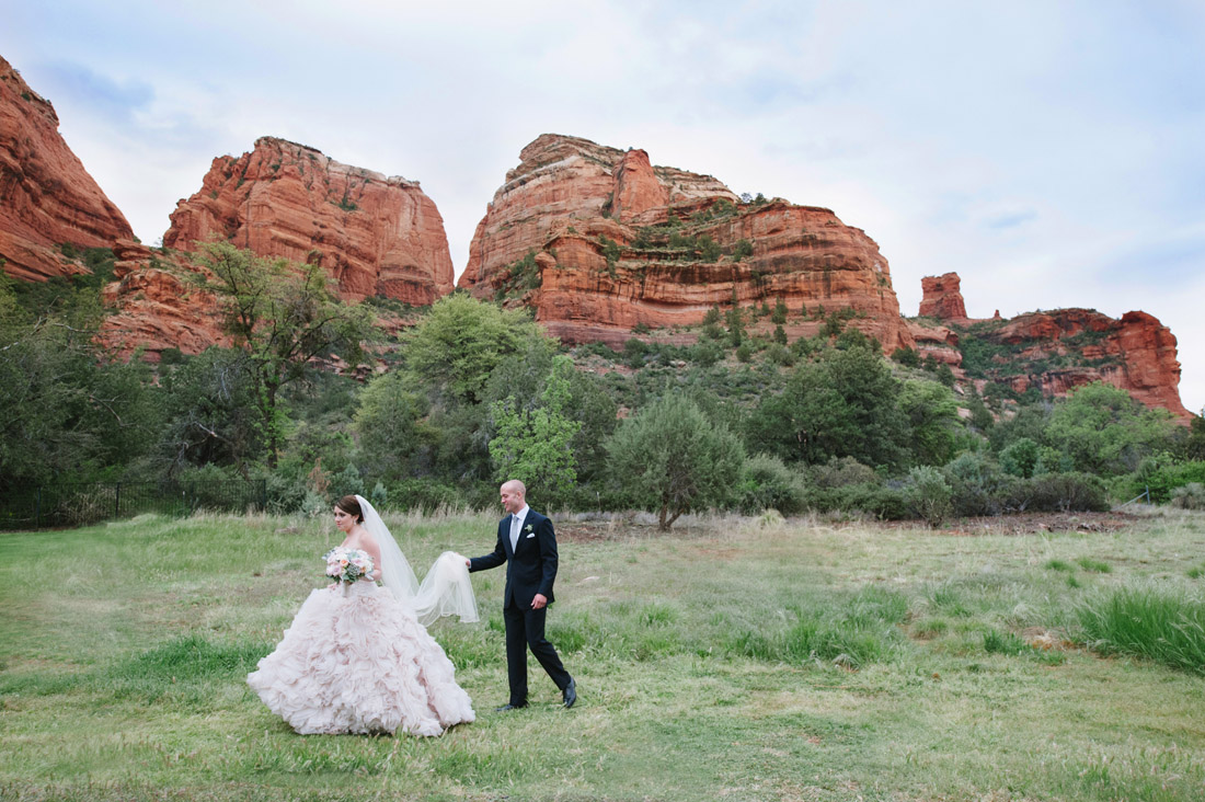 Enchantment Resort Wedding with Bride and Groom