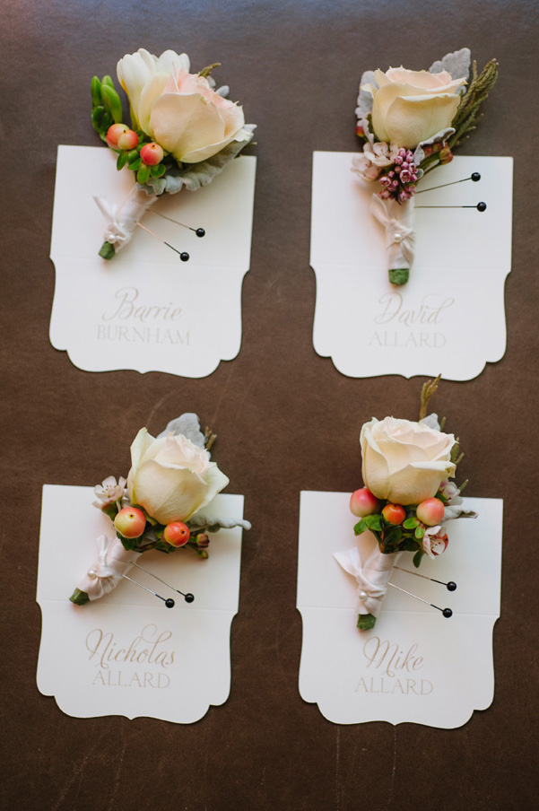 Enchantment Resort Wedding boutonnieres