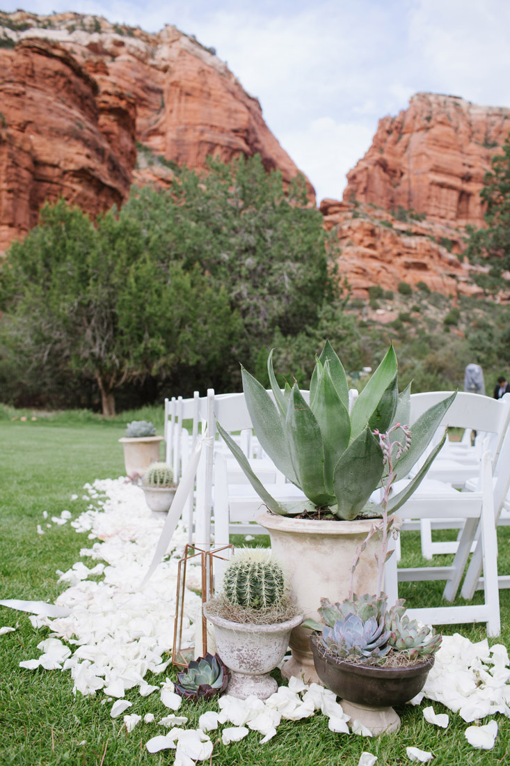 Enchantment Resort Wedding with succulents