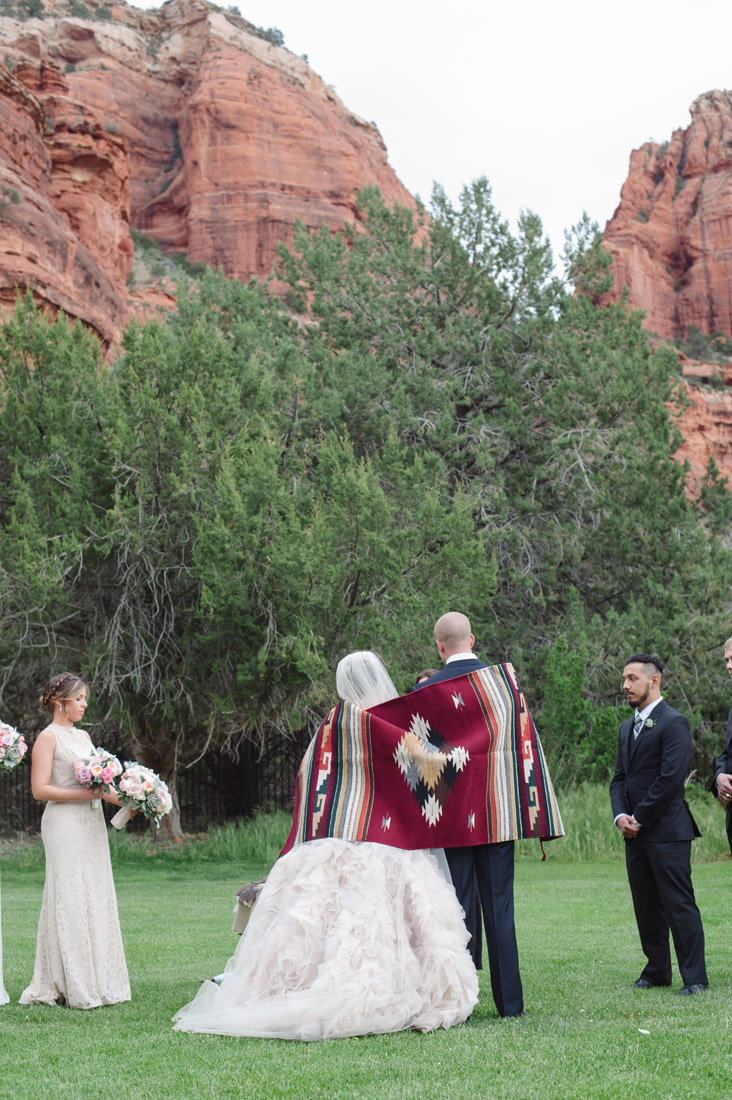 Enchantment Resort Wedding with Native American wedding traditions