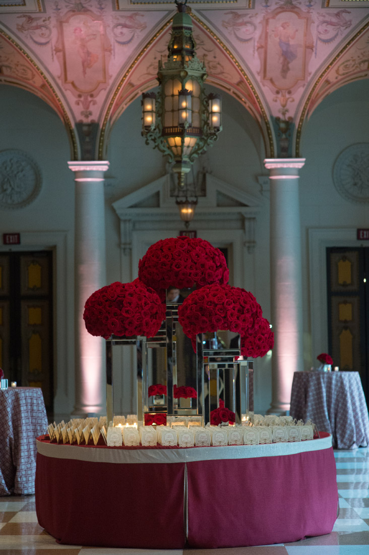 The Breakers Weddings Escort Card Table