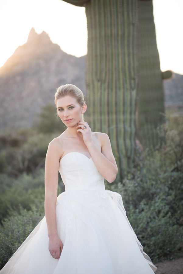 four seasons scottsdale bride with saguaro cactus