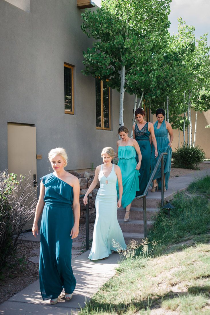 Four Seasons Santa Fe Wedding Bridesmaids