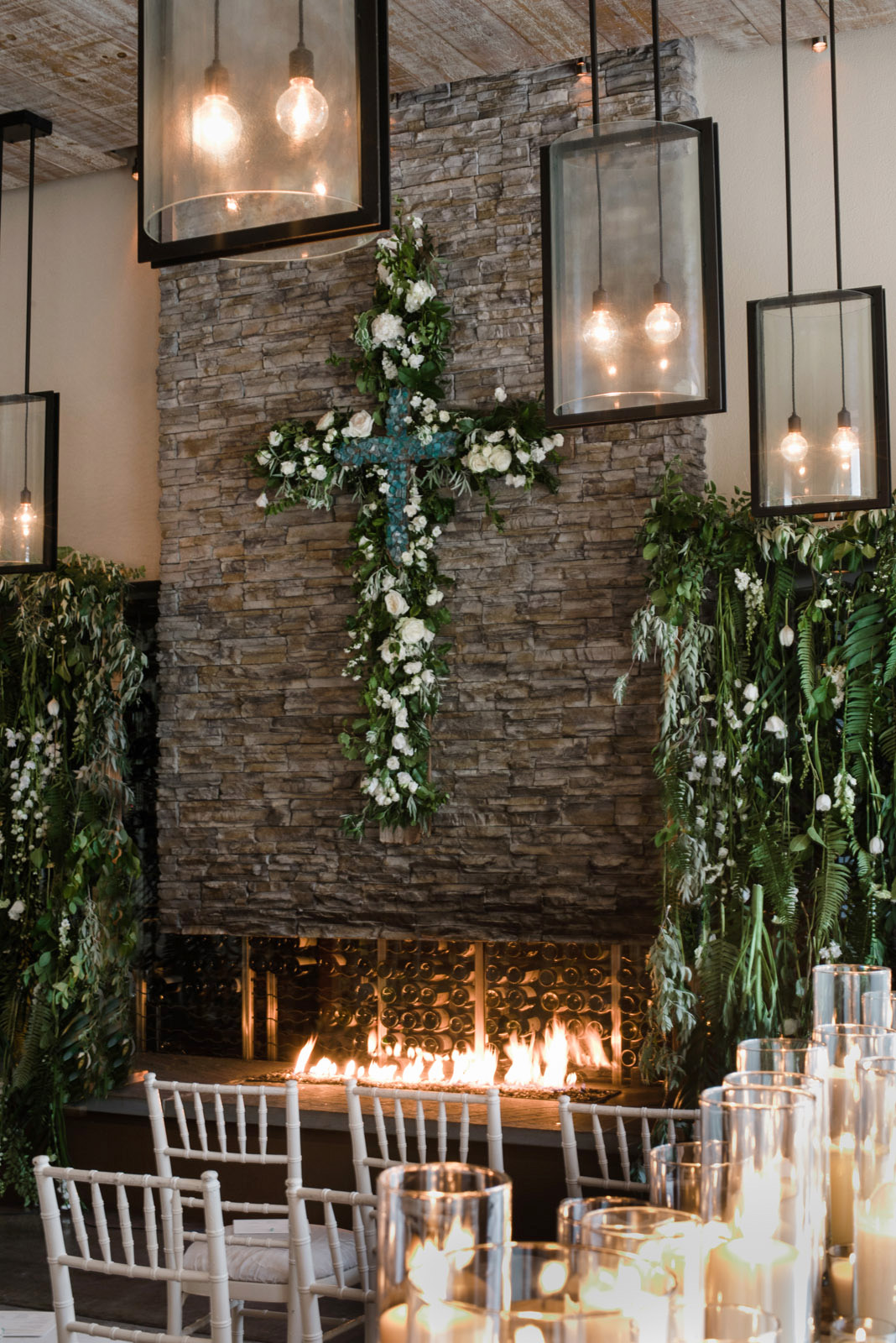 Four Seasons Santa Fe Wedding Tourquise Cross