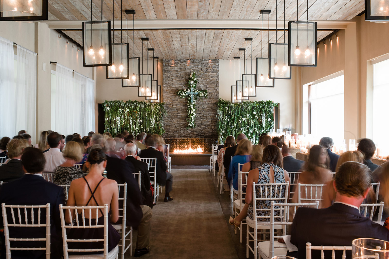 Four Seasons Santa Fe Wedding Ceremony in the hotel restaurant