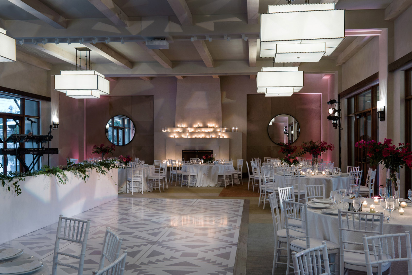 Four Seasons Santa Fe Wedding custom dance floor
