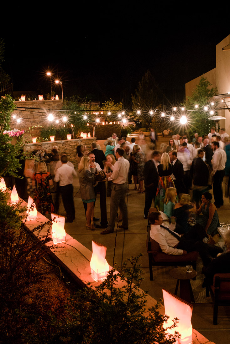 Four Seasons Santa Fe Wedding reception on the patio