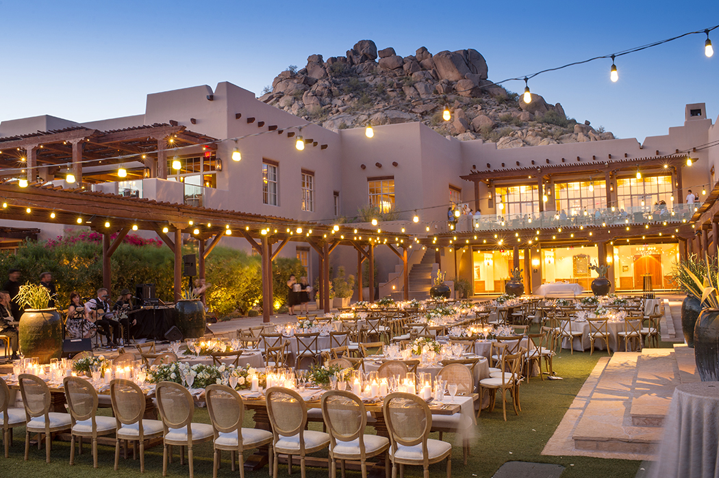 sofia oval back chairs design by Imoni Events at The Four Seasons Scottsdale