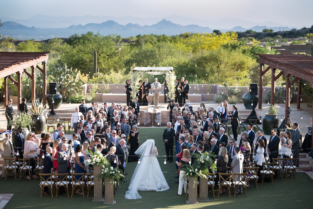 Four Seasons Scottsdale Outdoor Wedding Ceremony