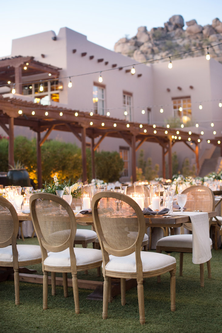 sofia oval back chair from Glamour and Woods Scottsdale design by Imoni Events