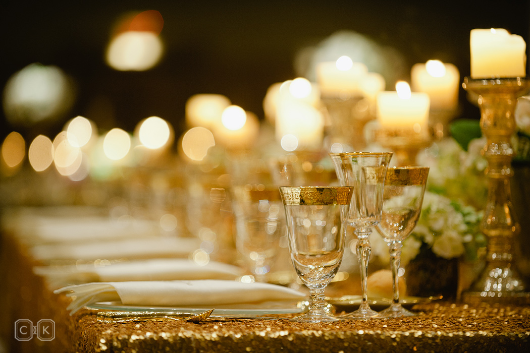 Gold Wedding Table Sparkle Scottsdale