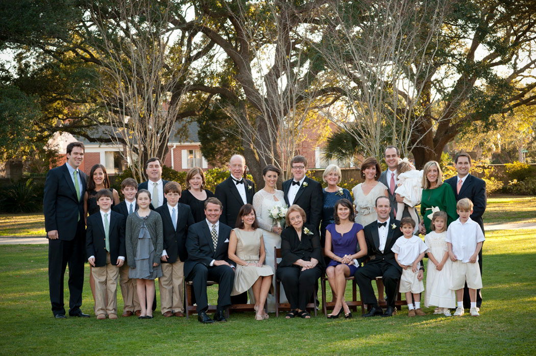 Lowndes Grove Wedding Family photo