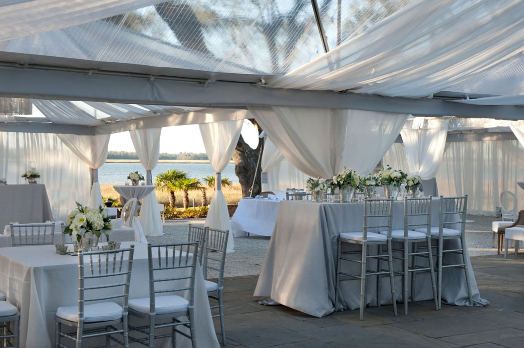 Lowndes Grove Wedding in Charleston with a view of the water