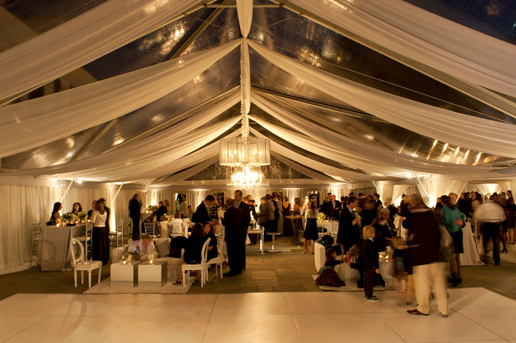 clear Tented wedding at Lowndes Grove