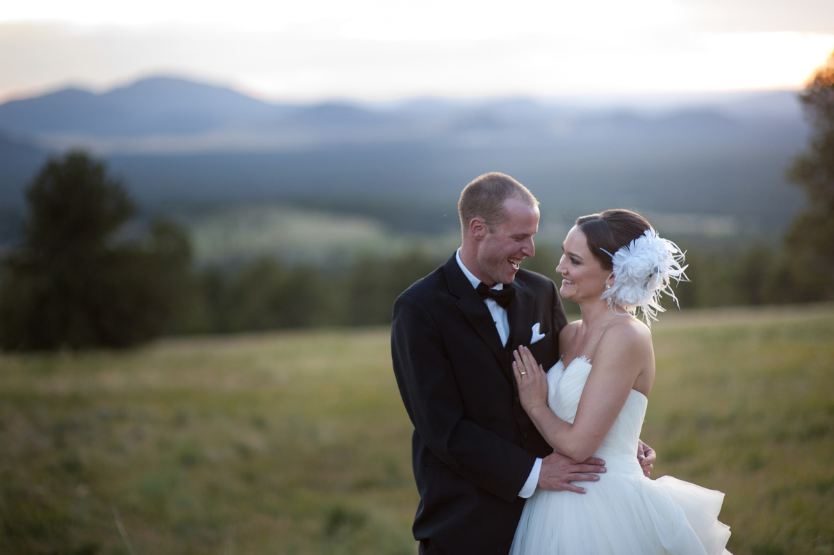 Flagstaff Wedding with mountain views