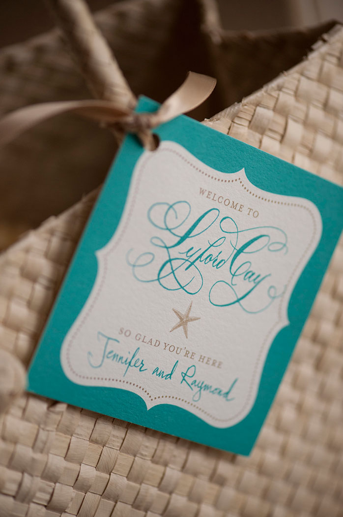 Lyford Cay Welcome Party bag tag