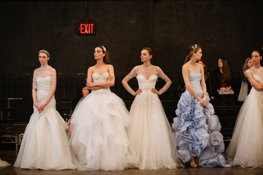 Backstage at bridal fashion week with monique lhuillier for Wedding expo az