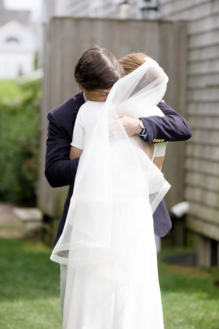 Mackenzie Horan and Will's Nantucket wedding first look