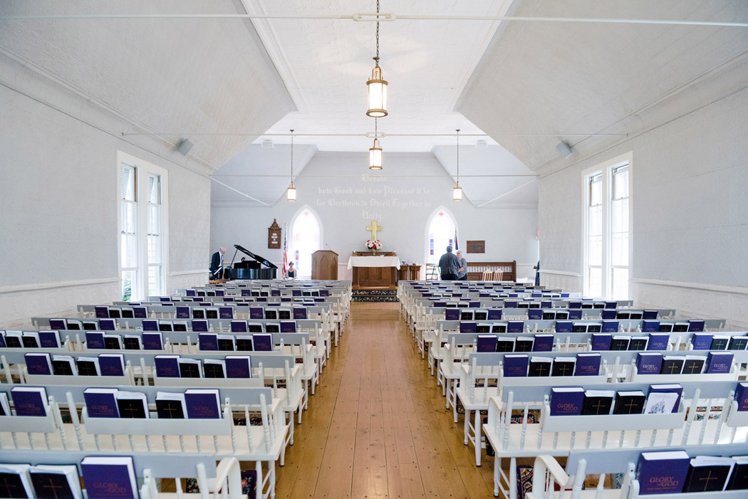Inside of the Sconset Chapel in Natucket