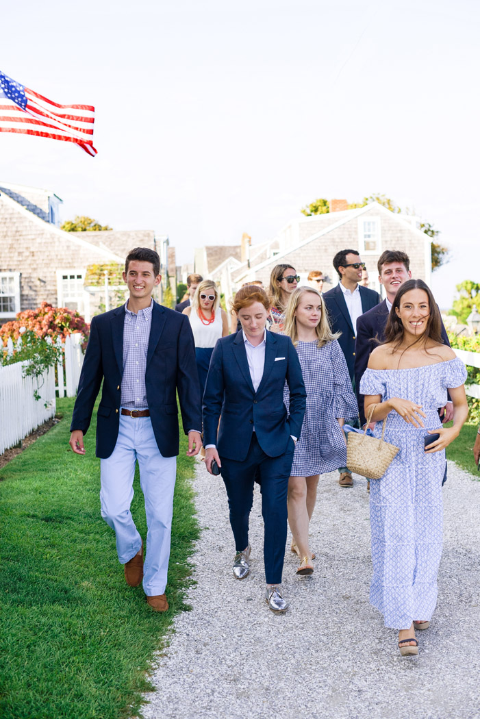 Nantucket wedding party
