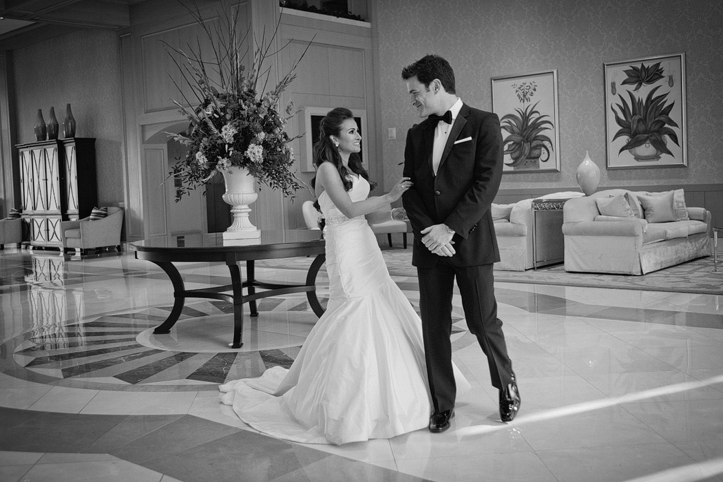 phoenician resort first look black tie wedding