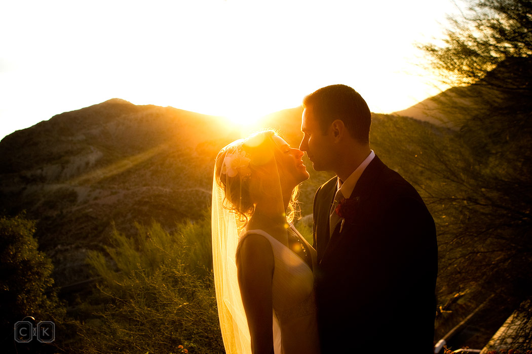 desert sunset phoenix wedding photography