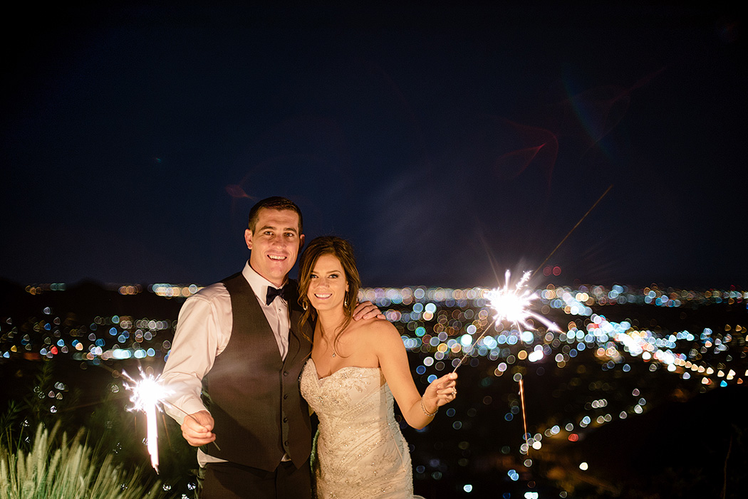 Different Pointe of View Wedding sparklers