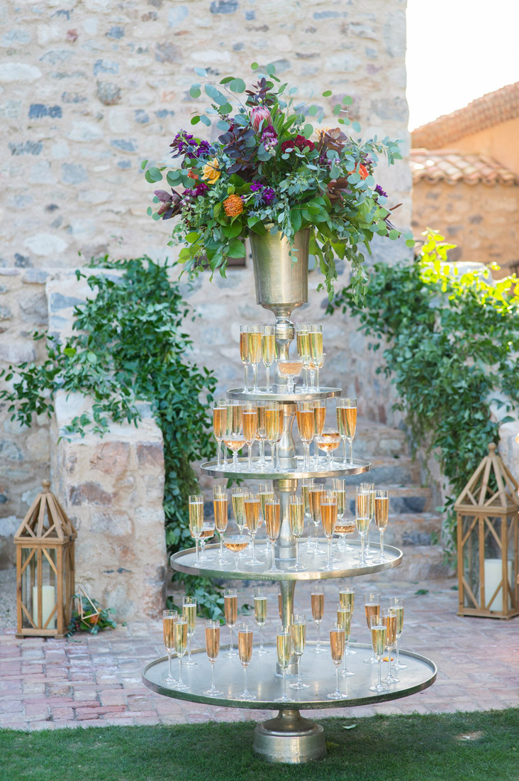 champagne tower at silverleaf club scottsdale