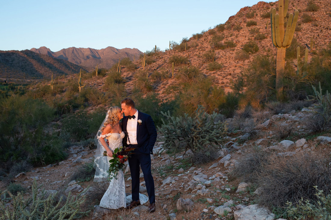 Silverleaf club bride and groom in the desert