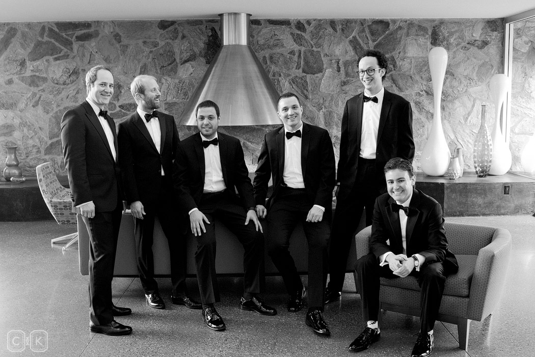 Hotel Vally Ho groomsmen portrait