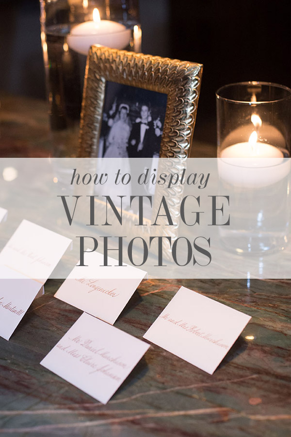 How To Display Vintage Family Photos Elegantly